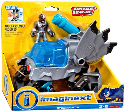 Fisher Price DC Justice League Imaginext Cyborg Mech Exclusive 3-Inch Mini Figure Set