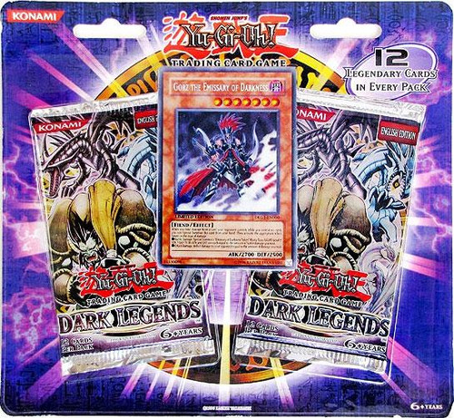 YuGiOh Dark Legends Special Edition Pack [Gorz Emissary of Darkness Card & 2 Dark Legends Booster Packs] [Sealed]