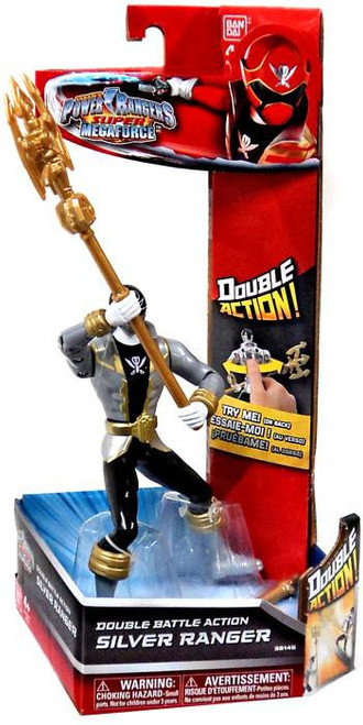 Power Rangers Super Megaforce Silver Ranger Action Figure [Double Battle Action]