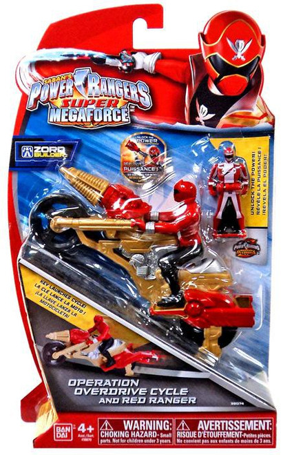 Power Rangers Super Megaforce Zord Builder Operation Overdrive Cycle & Red Ranger Action Figure