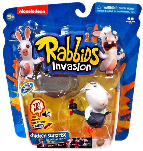 McFarlane Toys Raving Rabbids Rabbids Invasion Chicken Surprise Action Figure