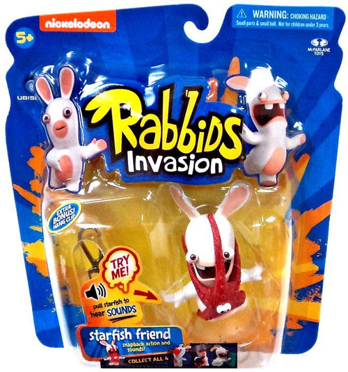 McFarlane Toys Raving Rabbids Rabbids Invasion Starfish Friend Action Figure