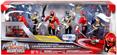 Power Rangers Super Megaforce Legendary Action Pack Exclusive Action FIgure 6-Pack