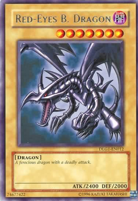 YuGiOh Dark Legends Rare Red-Eyes B. Dragon DLG1-EN012