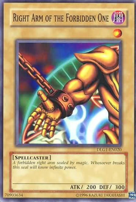 YuGiOh Dark Legends Common Right Arm of the Forbidden One DLG1-EN020