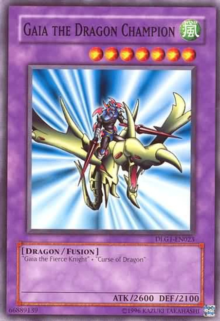 YuGiOh Dark Legends Common Gaia the Dragon Champion DLG1-EN023