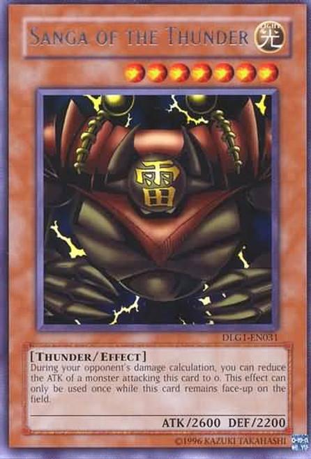 YuGiOh Dark Legends Rare Sanga of the Thunder DLG1-EN031