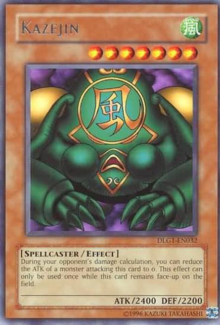 YuGiOh Dark Legends Rare Kazejin DLG1-EN032