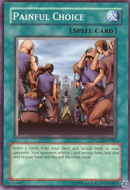 YuGiOh Dark Legends Common Painful Choice DLG1-EN060