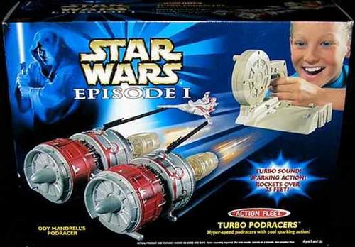 Star Wars The Phantom Menace Action Fleet Turbo Pod Racers Ody Mandrell's Pod Racer