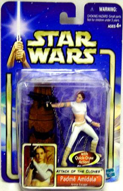 Star Wars Attack of the Clones Basic 2002 Collection 2 Padme Amildala Action Figure #02 [Arena Escape]