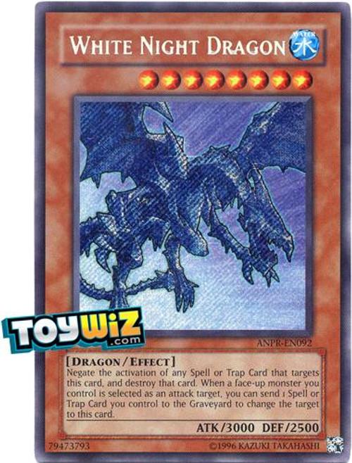 YuGiOh Ancient Prophecy Secret Rare White Night Dragon ANPR-EN092