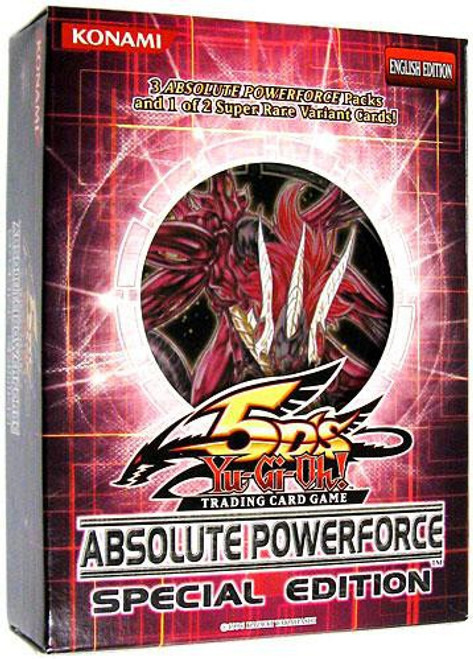 YuGiOh Absolute Powerforce Special Edition Pack [3 Booster Packs & 1 Random Promo Card] [Sealed]