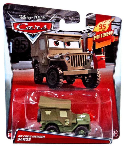 Mattel Disney Cars Pit Crew Member Sarge Diecast Car #1/8