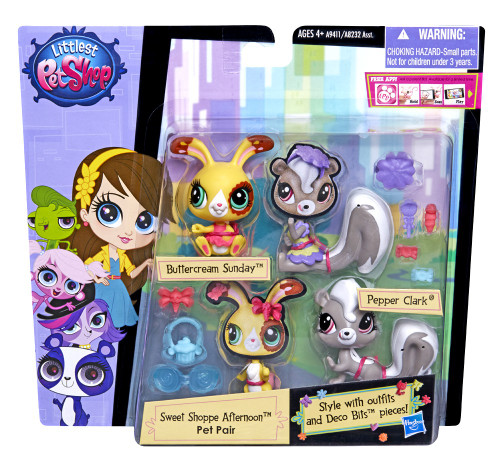 Hasbro Littlest Pet Shop Pairs and Fashion Pepper and But...