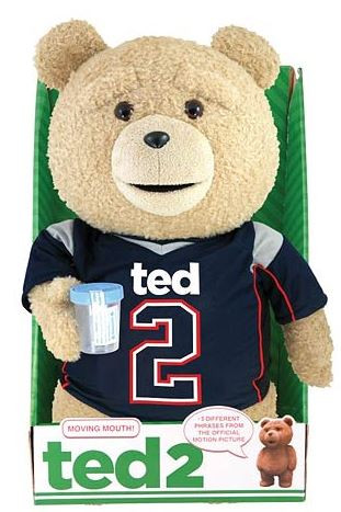 Commonwealth Ted 2 Ted in Jersey 16-Inch Talking Plush [C...