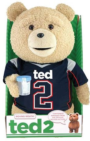 Commonwealth Ted 2 Ted in Jersey 16-Inch Talking Plush [E...