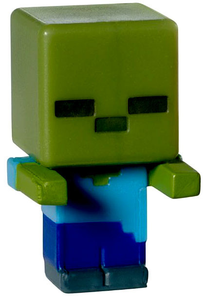 Minecraft Toys And Mini Figures For Kids : Minecraft stone series zombie mini figure loose mattel