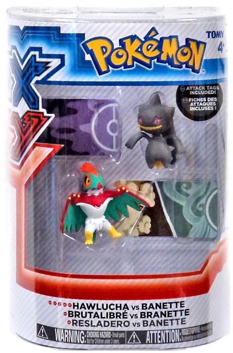 Pokemon xy hawlucha vs banette figure 2 pack tomy toywiz - Branette pokemon y ...