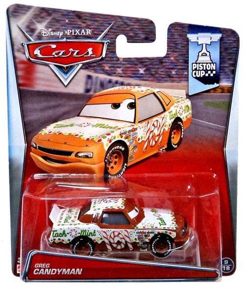 Mattel Disney Cars Piston Cup Greg Candyman Diecast Car #...