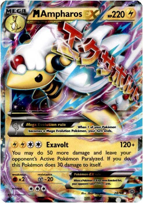 Pokemon x y ancient origins single card ultra rare holo - Pokemon xy mega pokemon ...