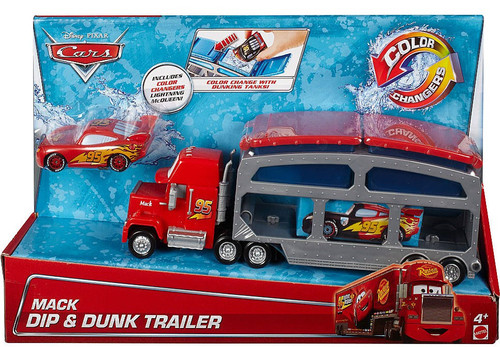 Disney Cars Color Changers Mack Dip & Dunk Trailer Playset