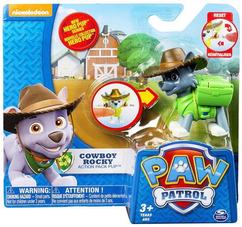 Spin Master Paw Patrol Action Pack Pup Cowboy Rocky Figure