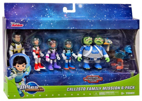 TOMY Miles From Tomorrowland Disney Junior Callisto Family Mission Exclusive Action Figure 6-Pack