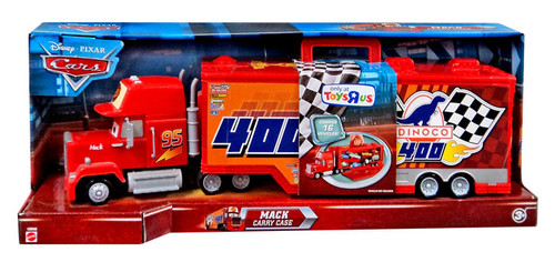 Semi Truck That S Also A Toy Car Holder : Disney cars dinoco mack exclusive carry case mattel