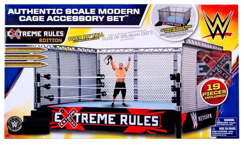 Mattel WWE Wrestling Xtreme Rules Cage Superstar Ring