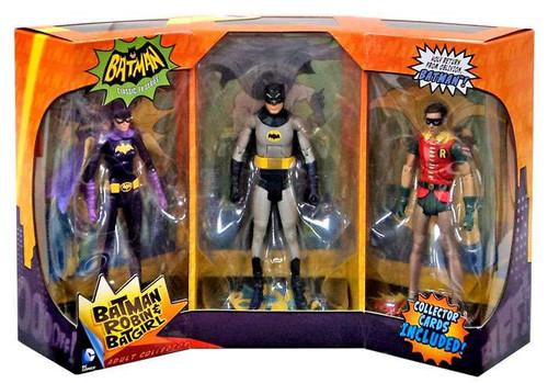 Mattel 1966 TV Series Batman, Batgirl & Robin Action Figu...