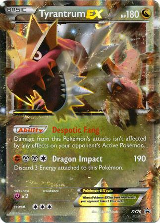 Is Saturday A Business Day For Ups >> Pokemon X Y Promo Single Card Ultra Rare Holo Tyrantrum-EX XY70 - ToyWiz