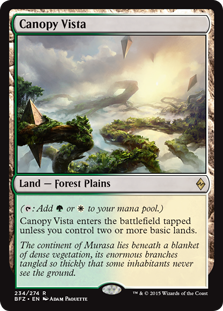 Wizards Of The Coast MtG Battle for Zendikar Rare Canopy ...