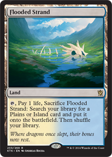 Wizards Of The Coast MtG Khans of Tarkir Rare Flooded Strand #233 [Spanish]