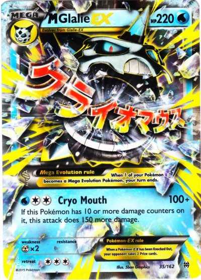 Pokemon x y breakthrough single card ultra rare holo mega glalie ex 35 toywiz - Carte pokemon mega evolution ex ...