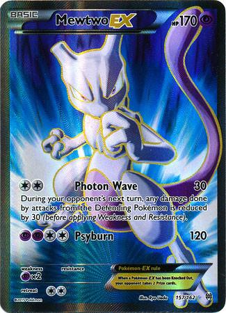 Pokemon X & Y BREAKthrough Ultra Rare Holo Full Art Mewtw...