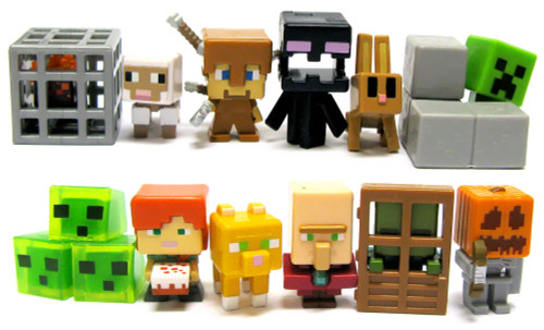 Minecraft Toys And Mini Figures For Kids : Minecraft obsidian series set of mini figures loose