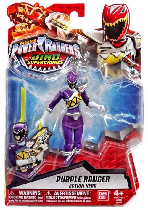 Bandai Power Rangers Dino Super Charge Purple Ranger Acti...
