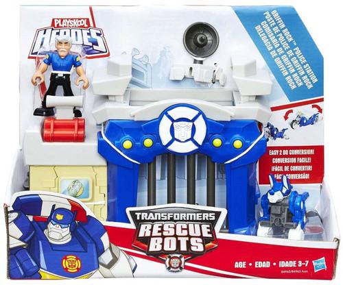 Transformers rescue bots playskool heroes griffin rock - Playskool helmet heroes police officer ...