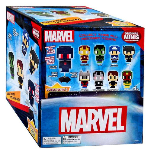 Toy Mystery Box : Marvel original minis pixelated heroes series bobble