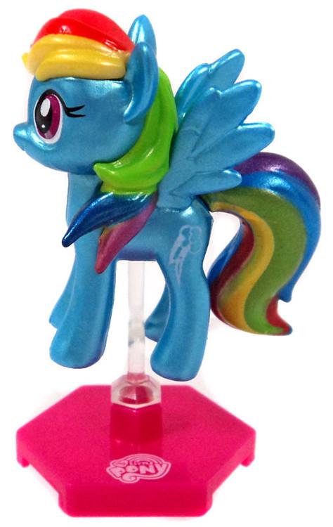 My Little Pony Metallic Rainbow Dash 2 Mini Figure Loose Blip Toys Toywiz