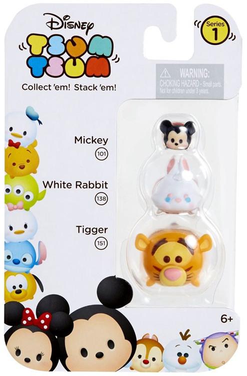 JAKKS Disney Tsum Tsum Series 1 Mickey, White Rabbit & Ti...