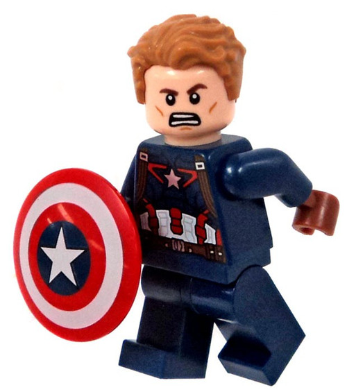 Lego marvel super heroes captain america civil war captain america minifigure unmasked loose - Lego capitaine america ...