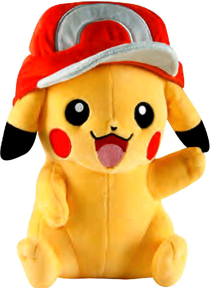 TOMY Pokemon Pikachu 10-Inch Large Plush [Wearing Red Hat]