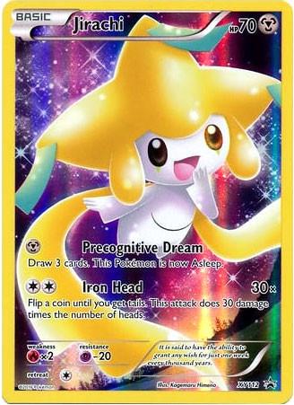 Pokemon x y promo single card promo holo full art jirachi - Carte pokemon jirachi ...