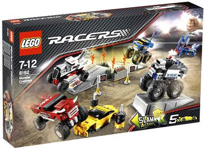 Lego Racers Fold Out Race Tracks Monster Crushers Set Toywiz
