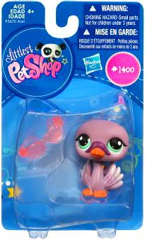 Hasbro Littlest Pet Shop Swan Figure #1400 [Purple]