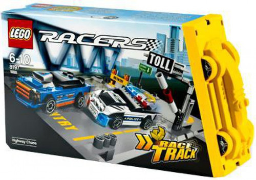 Lego Racers Fold Out Race Tracks Highway Chaos Set Toywiz