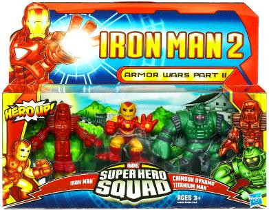 Hasbro Iron Man 2 Superhero Squad Armor Wars Part II Acti...