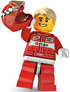 Lego Minifigures Series 3 Race Car Driver Minifigure [Loose]